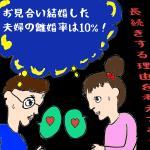 お見合い結婚した夫婦の離婚率は10%!長続きする理由を考えてみた。