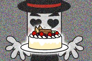 結婚相談所 ケーキをイメージするミッキー岡田